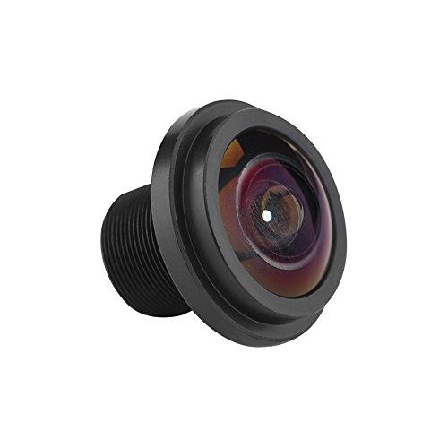 Richer-R 1.7mm CCTV Objektiv, 5MP IP Kamera Objektiv Lens Fisheye Kamera Linse,185 ° Weitwinkel CCTV Objektiv M12x0,5 Sicherheitskameraobjektiv für 1/3 1/4 Zoll CCD-Chipsätzen Kamera Schwarz