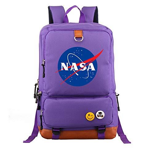 DDPP Mochila de Moda Ligera de la NASA, Mochila Impresa de la NASA, Mochila de Estudiante...