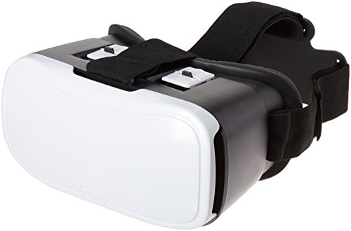 ONN White Virtual Reality VR Smartphone Headset for Apple or Android
