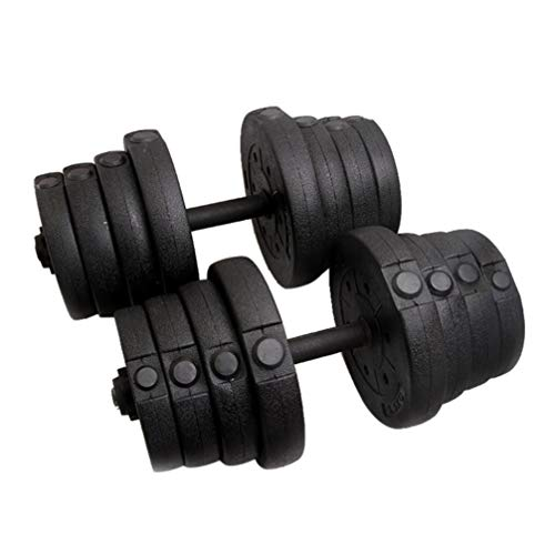 1 Set Adjustable PE Material Weight Dumbbell Empty Shell Set Gym Barbell Plates for Exercise Fitting Gym Body Workout