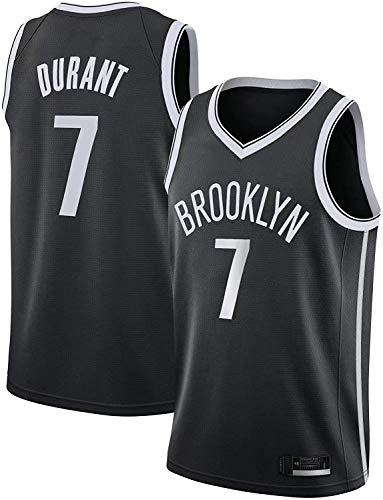 BPZ Jersey di Pallacanestro Maschile Brooklyn Nets # 7 Kevin Durant NBA Maglie NBA Cool Traspirante Tessuto Swingman Swingman Gilet Senza Maniche Top Abbigliamento,1,XL(180~185cm)