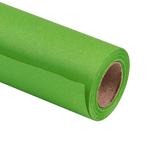 Rollo de color verde claro con dise/ño de acebo de 4x2m Papel de regalo de Navidad con efecto de papel met/álico de 8m