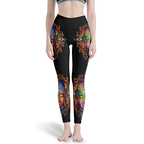 O5KFD & 8 dames thema Capri Leggings Retro High Waist Out broek Stretch Workout Fitness Dames Legging -