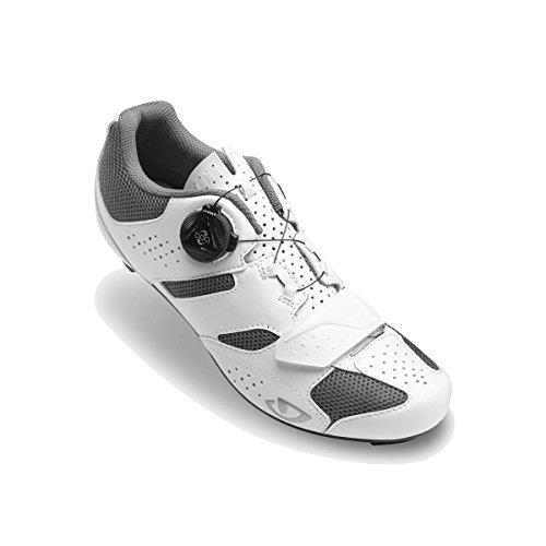 46 EU Giro Techne Road Zapatos de Ciclismo de Carretera para Hombre, White//Black 000