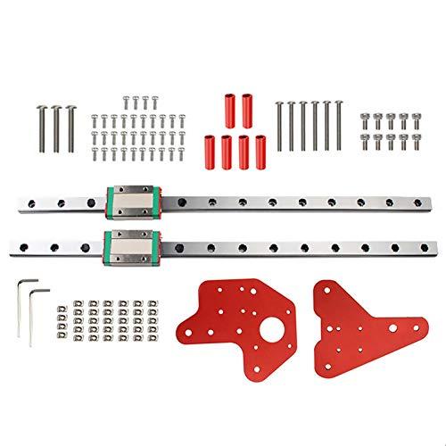 likeitwell Guide Linéaire du Rail Accessoires d'imprimante 3D avec Kit de Rails linéaires Mini roulement de Guidage linéaire CNC miniaturisé pour Ender3 3S ProCR10 Carefully