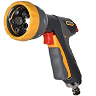 Premium gun with durable stainless steel connection Soft ergonomic handle for added comfort Lockable on/off trigger flow for when watering for longer periods of time