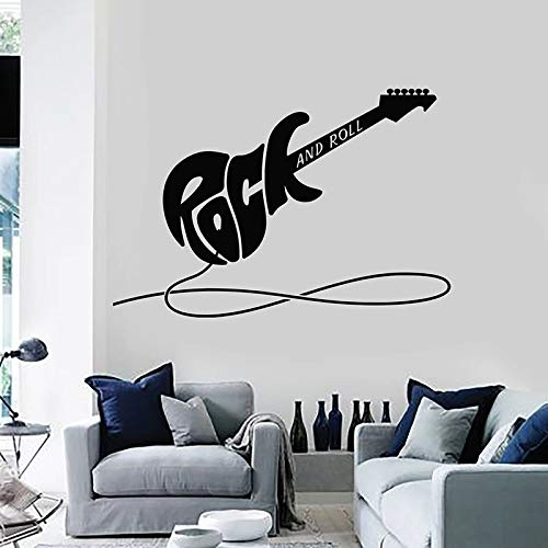 Lamubh Calcomanía de Pared de Guitarra eléctrica Rock and Roll Instrumento Musical...