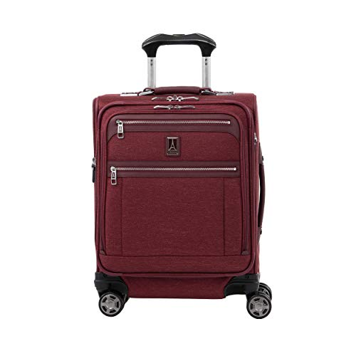 Travelpro Platinum Elite Carry-on Softside Spinner Suitcase 4 Wheels 55x40x20 cm Expandable and Durable 39 Litres Magnetic Swivel Wheels Travel Luggage 10 Years Warranty