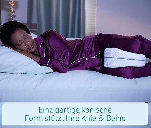 Mediashop Dreamolino Leg Pillow – ergonomisches Seitenschläferkissen für optimale Unterstützung – Memory Foam Kissen für Seitenschläfer stützt Beine, Knie und Rücken - Versand Edition - 7