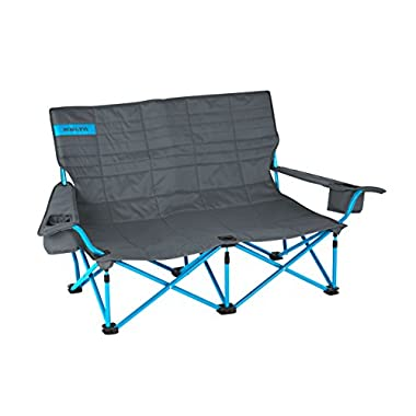 Kelty 61510716SM Low Loveseat Camp Chair - Smoke / Paradise Blue