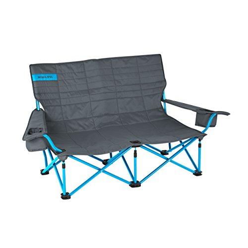 Kelty 61510716SM Low Loveseat Camp Chair - Smoke/Paradise Blue