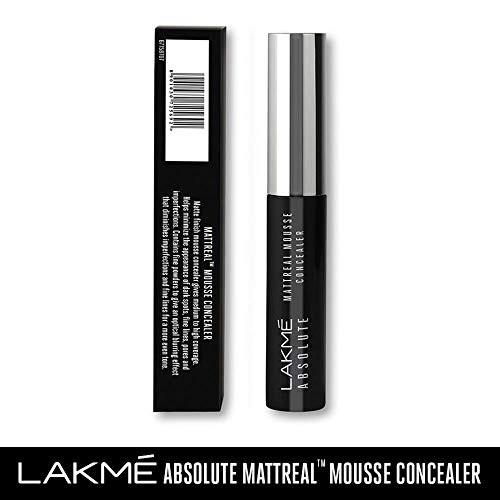 Lakme Absolute Mattereal Mousse Concealer, Toffee, 9 g
