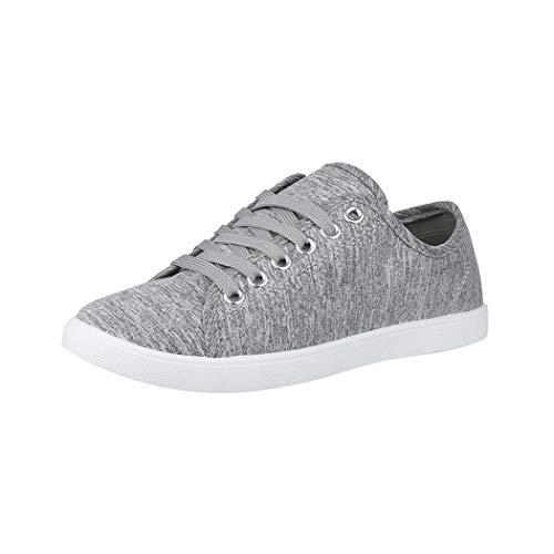 Elara Damen Sneaker Basic Chunkyrayan CL33318 Grey-38