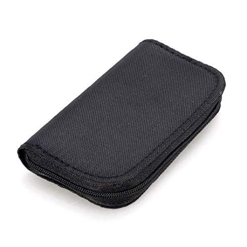 22 Slots Speicherkarten-Tasche wasserdicht SD-Kartenhalter-Tragetasche für Micro SDHC SDXC TF SIM-Karte CF-Black