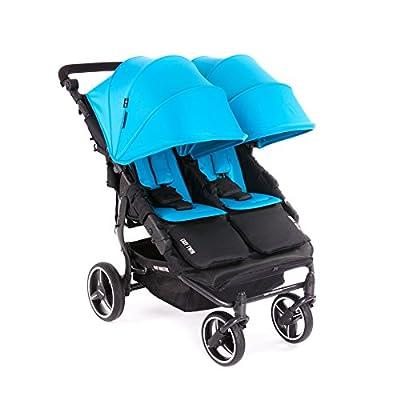 NUEVA Silla Gemelar Easy Twin 3.0.S con capota reversible de paseo Baby Monsters - Color Turquesa + REGALO de dos mantas para silleta - Danielstore