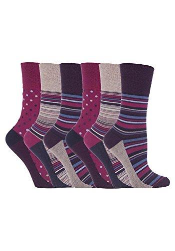 """-6Paar nicht elastische Damensocken """"Gentle Grip"""", Größe UK: 4–8, EUR: 37–42 Gr. Medium, GG55"""