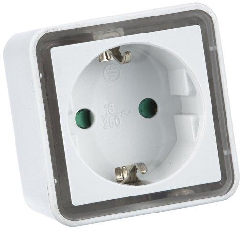 Hama Cube Nachtlampje (stroombesparende led-oriëntatie- en sfeerlicht met schemeringssensor, geïntegreerd stopcontact) wit