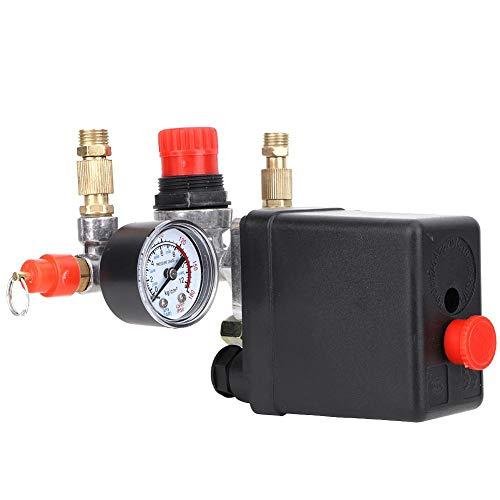 220V 90-120 PSI Pressostato per compressore d'aria con manometri regolatori Raccordi per valvole di sicurezza per compressore d'aria monoforo