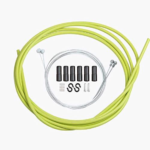 YLJY Tapa De Línea De Freno De Bicicleta, Cable Interior, Núcleo De Cable, Mazo De Cables De Freno General para Kits De Cambio De Marchas De Carretera Y Montaña Juego de Tubo de línea de Cambio/Verde
