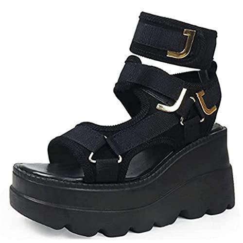 Hain A estrenar para Gran tamaño 43 2021 Stock Cuñas Tacones Altos Fresco Plataforma de Verano Sandalias Mujeres Zapatos Casuales