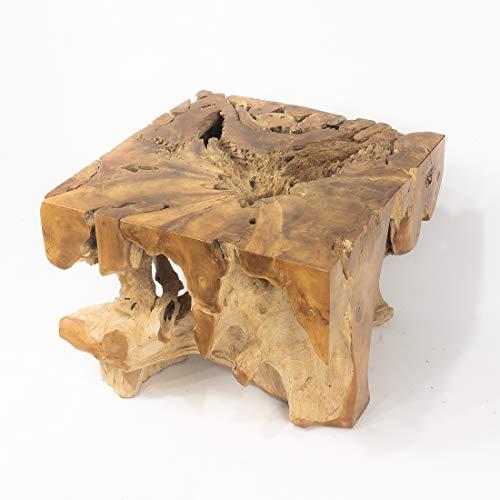 Rococo Mesa de café Cuadrada de raíz de Teca de 60cm