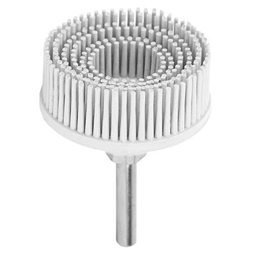 Esenlong Disco de Cerdas de 2 Pulgadas Cepillo Abrasivo de Goma de Esmeril Muela Abrasiva de Pulido para Eliminación de Óxido de Rebabas Blanco
