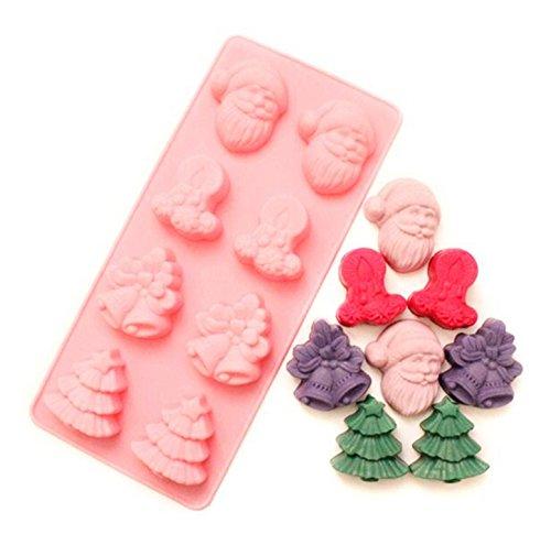 LEAMALLS 1 Moldes de Silicona Forma Navidad Utensilios de repostería para Caramelos...
