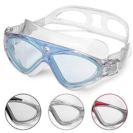 Winline Gafas de Natación Profesional Anti Niebla Hermético Ajustable Gafas de Natación para Adultos para Hombres Y Mujeres (Blue/Clear Lens)