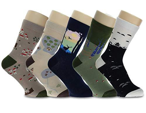 CityComfort Novedad Calcetines de algodón Tropa Unicornio