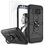 Galaxy S6 Edge Plus Case, Jeylly [3 Color] Slim Hybrid Impact Rugged Soft TPU & Hard PC Bumper Shockproof Protective Anti-Slip Case Cover Shell for Samsung Galaxy S6 Edge+ Plus G928 - Black
