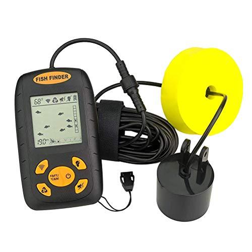 Bozaap Ecoscandaglio LCD di Temperatura dell'Acqua con Display LCD Fish Finder con trasduttore con sensore Sonar cablato