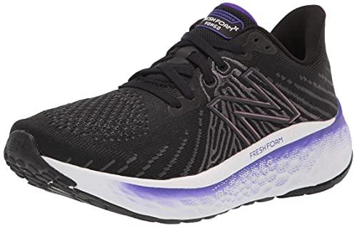 New Balance Women's Fresh Foam X Vongo V5 Running Shoe, Black/Deep Violet, 7.5