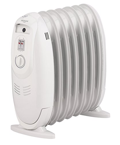 Bastilipo MRA-600 Radiador de aceite eléctrico de bajo consumo, 600 W, Acero, Blanco