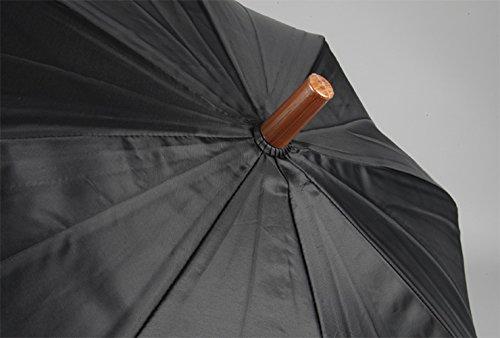 『アテイン 紳士用ジャンプ傘 親骨65cm 黒 3224』の3枚目の画像