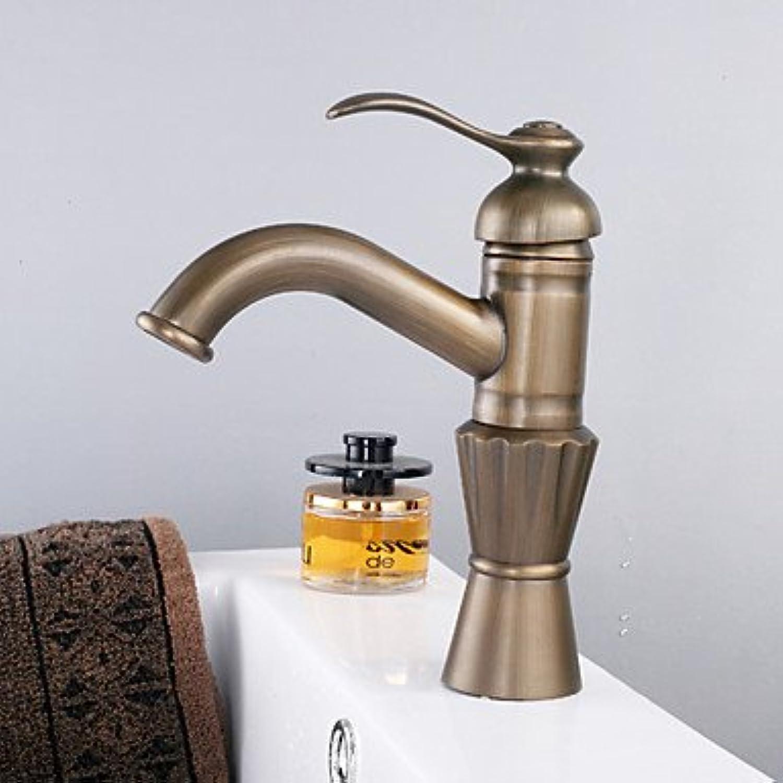 Miaoge Messing antik Finish Centerset einzigen Griff Waschbecken Wasserhahn (hoch)