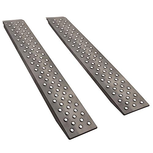 72' x 12' Heavy Duty Trailer Loading Ramps | 10ga Steel | For Flatbeds and Tailgates | 5000lb Capacity (2-Pack)