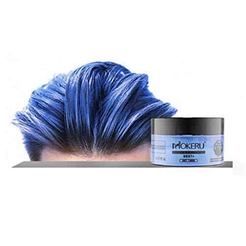 DeHolifer 120g Frauen Männer Einweg-Haarfärbung Wachs Unisex Langlebige DIY Haarfärbung Schlamm Färbecreme Einmalige Haarfärbung Haarschlamm-Haarwachs 8 Farben