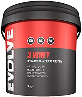 EVOLVE NUTRITION 3-WHEY Lean Low Carb WPI/WPC Protein 3 WHEY