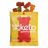 Kiss My Keto Gummies — Low Carb Candy Gummy Bears with MCT Oil | Fruity Keto Candy Snacks | Low Sugar, Low Calorie, Gluten Free Keto Sweets | Just 3g Net Carbs — 12 Individually Wrapped Packs