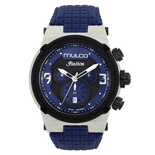 MULCO Unisex Pantalla MW3-12140-415 Ilusion analógico Reloj de Cuarzo Suizo Azul