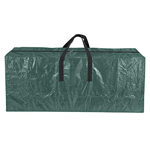 Hellery Jumbo Christmas Tree Storage Bag Fits 9 ft. Tall Artificial Xmas Trees with Sturdy Handles - Green_165x76x38cm
