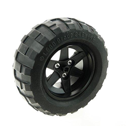 1 x Lego Technic Rad schwarz 94.8 x 44 R Felge 56mm D. x 34mm Ballon Reifen Technik 54120 44772c02