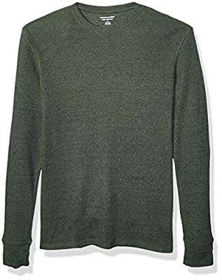 Amazon Essentials Men's Regular-Fit Long-Sleeve Waffle Shirt, Olive Heather, X-Large