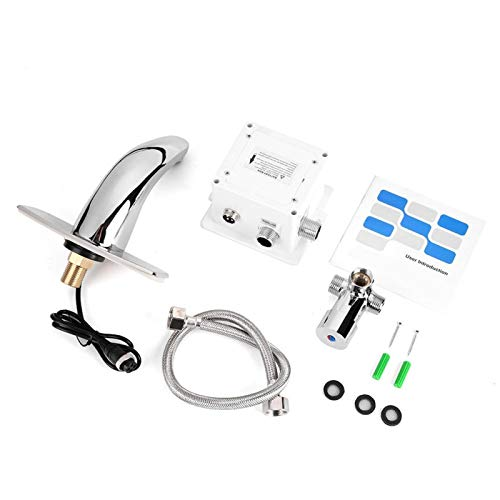 Grifo con sensor automático, grifo activado por movimiento, grifo electrónico, grifo de agua para baño, grifo de cocina, sensor infrarrojo automático, grifo para fregadero, oficina para el
