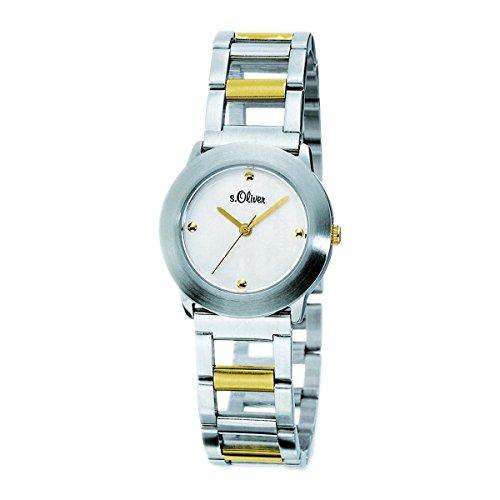 s.Oliver Damen-Armbanduhr Analog Quarz Bicolor SO-15028-MQR