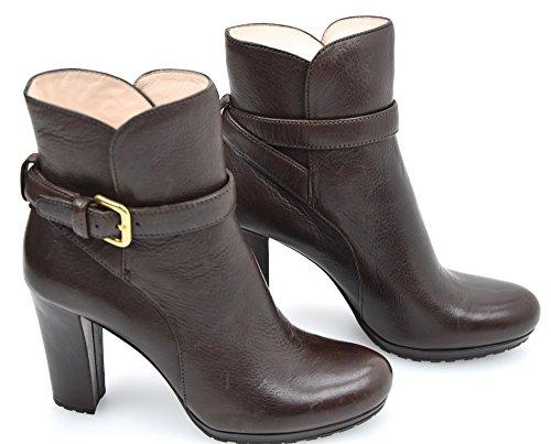 Prada Stivale Tronchetto alla Caviglia Donna Pelle Nero O Ebano Art. 3TP005 37 Ebano - Ebony