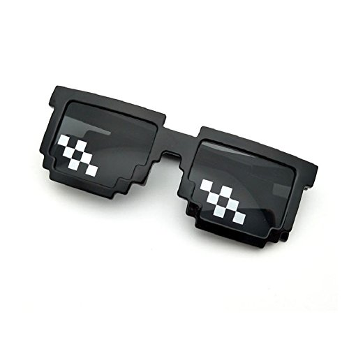 Thug Life Pixelated Sunglasses Mosaic Glasses Party Deal With It Hip Hop MLG Shades Toy 8-Bit 4 Style (Style 3)