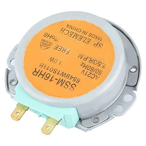 Ladieshow Motor de Horno de microondas, Apto para Horno de microondas LG SSM-16HR Serie 6549W1S011B Motor de Plato Giratorio de Horno de microondas AC 21V