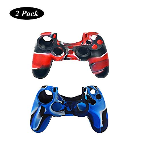 PS4 Controller Cover, Protective Silicone Skin for Sony Playstation 4 PS4/PS4 Slim/PS4 Pro Controller (2 Pack)