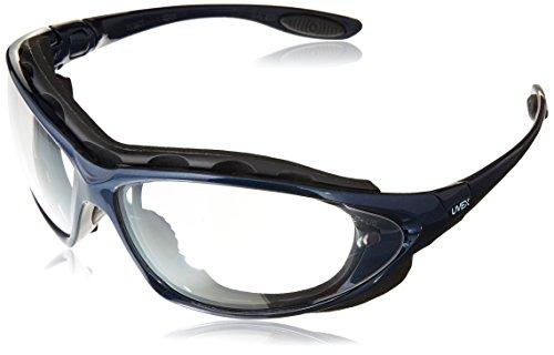 Honeywell Home S0620X Uvex Seismic Sealed Eyewear, Clear Lens, Metallic Blue Frame